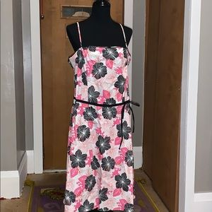New York & company pink and black floral sundress!